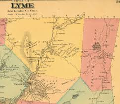 Lyme Map Documents Tracing Capt Jonathan Gillet 1720 1786 Florence