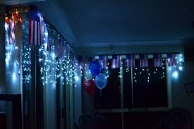 American Flag Christmas Lights American Flag Bunting And Fairy Lights My America Themed 21st