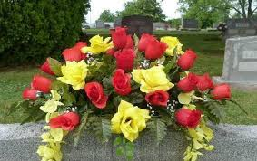 cemetery flower arrangements high quality artificial flowers