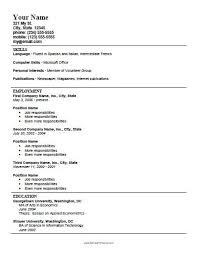 Resume Template Creator Free Printable Resume Format Resume Template And Professional Resume