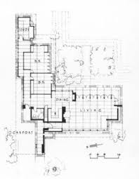 Fox And Jacobs Floor Plans Elevations And Wall Section Herbert Jacobs House I Madison