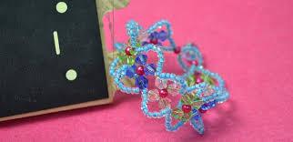 diy beaded flower bracelet images Easy tutorial on making beaded flower bracelet for women jpg
