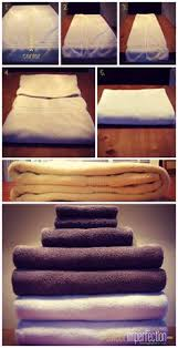 Home And Decorating 13 Tricks For Organizing Your Chaotic Linen Closet Fold Towels