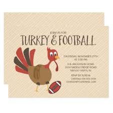 thanksgiving football invitations announcements zazzle