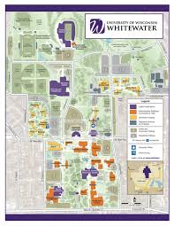 Wisconsin City Map by Campus Map University Of Wisconsin Whitewater