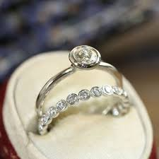 what are bridal set rings best 25 bezel set engagement rings ideas on bezel