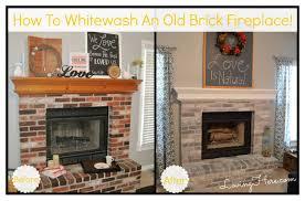 interior whitewashed brick whitewashing exterior brick