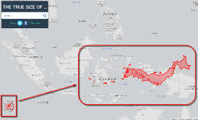 True Size World Map by The True Size Of