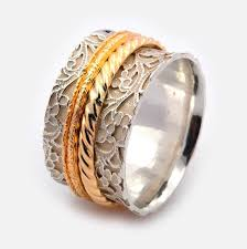 worry ring wide spinner ring meditation band worry ring engagement