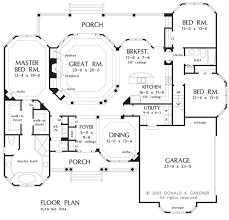 Donald Gardner Floor Plans House Plan The Stonebridge By Donald A Gardner Architects
