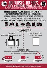 New Hampshire travel safety tips images Gilford concert pavilion imposes new bag rules new hampshire jpg