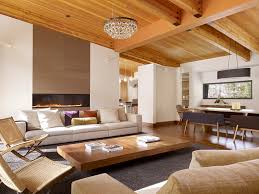 Ceiling Treatment Ideas by Coffee Table Living Room Midcentury With Modern Light Fixture Wood