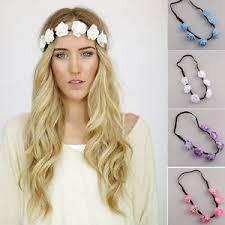 flower hair band new boho women s flower chain jewelry forehead headband