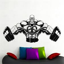 compare prices on decorative wall graphics online shopping buy large gym wall decal fitness stickers sports room wall decor home interior wall graphics decor vinyl