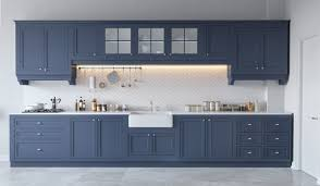 blue kitchen cabinets grey walls 30 gorgeous grey and white kitchens that get their mix right