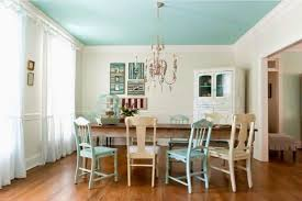 Shabby Chic White Chandelier Large Shabby Chic Dining Room With Double Small Chandeliers Over