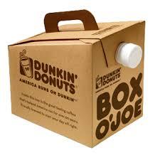 Box Coffee box o joe delray donuts dunkin donuts network