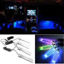 Led Light Bulbs For Car Interior by Aliexpress Com Buy 4pcs Set Multicolor Automotive Ambient Light