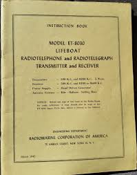 fs original wwii et 8030 lifeboat transmitter manual g503