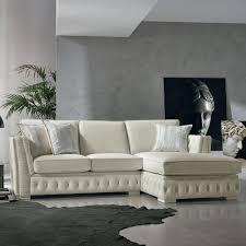canapé fabriqué en canapé d angle italien en cuir blanc de style classique teseo