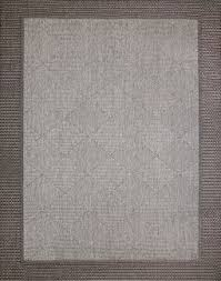 Outdoor Rug 5x7 Grey Area Rug With Charcoal Border Gray Cabled Weather And