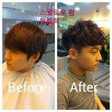 michael lee hair stylist gwangju korea men s perm wavy hair and