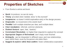 lecture 4 from analysis to design sketching and prototyping