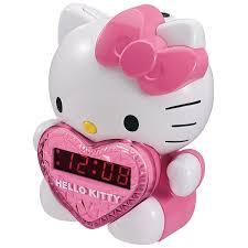 Hello Kitty Christmas Lights by Amazon Com Hkt2064 Hello Kitty Kt2064 Am Fm Projection Alarm