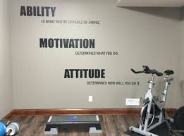 Home Gym Wall Decor | motivational quote gym wall decal ability motivation attitude 14