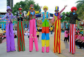 clown stilts bangkokkidsparty children party organizer and party supplies in