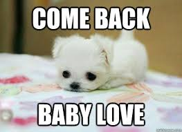 Baby Come Back Meme - come back baby love i miss you quickmeme