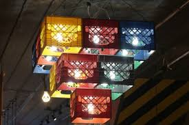 Chandelier Creative Furniture Accessories Diy Plastic Milk Crates Hanging Chandelier