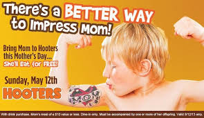 hooter s offers free meals on s day free entrees for