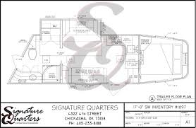 horse trailer living quarter floor plans custom line u2013 signature quarters