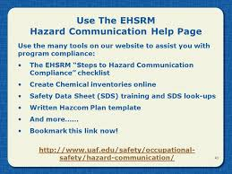 hazard communication general revised april ppt video online download
