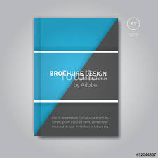 free book cover designs templates book cover template vector in blue color modern brochure