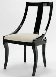 Italian Lacquer Dining Room Furniture Six Italian Black Lacquer Moire Dining Chairs Dining Chairs