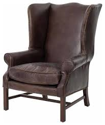 Cigar Lounge Chairs Wingback Arm Chair Cigar Leather Transitional Armchairs And