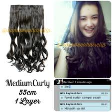 hair clip rambut asli hair clip extension 1 layer big layer hair clip murah hair clip