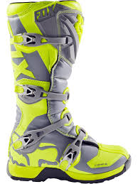 fox motocross clothing fox yellow grey 2017 comp 5 mx boot fox freestylextreme