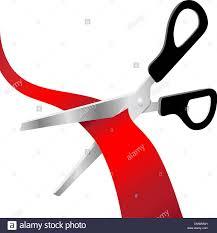 grand opening ribbon scissors cut grand opening ribbon stock vector