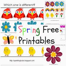 free spring printables sparklingbuds