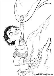 moana coloring pages coloring