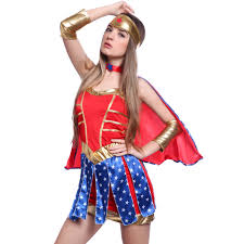 Wonder Woman Costume Superhero Supergirl Fancy Dress Party Superwoman Wonder Woman