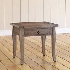 grey weathered farmhouse end table living room furniture