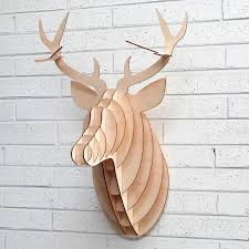 wooden stag wall wooden deer oliver bonas
