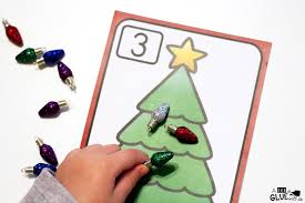 christmas tree number printable math manipulatives a dab of glue