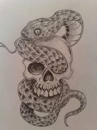 grey ink skull and snake design jpg 900 1200 hi