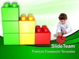 large building blocks powerpoint templates play with lego baby