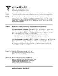 sample cover letters cna certified nursing assistant resume within